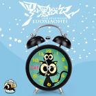 Novelty Kids Cute Cat Silent Sweep Cartoon Night Light Analog Metal Alarm Clock