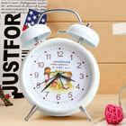 "Novelty Christian Theme Church Gift 4"" Round Metal Back Light Silent Alarm Clock"