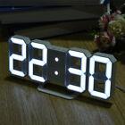 3D Modern Digital LED Table Desk Night Clock Alarm Watch 24 or 12 Hour USB