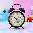 "Novelty Retro 4"" Loud Ring Twin Bell Butterfly Euro Silent Sweep Alarm Clock"