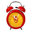 "Novelty Superhero 3"" Metal Alarm Clock Silent Sweep Night Light Cartoon Timer"