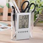 Multi-Functions Desk Pen Holder LCD Display Alarm Clock Thermometer Calendar