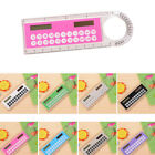 1pcs Solar Mini Calculator Multifunction Ruler  Office School Supply Stationery