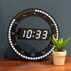 Black Circle Digital Led Display Desktop Table Clock