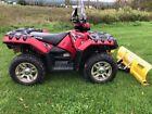 Polaris Sportsman XP 550 LE Efi 4x4 ATV Quad Winch and New Moose Snow Plow