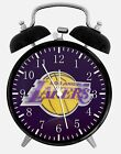 """Los Angeles Lakers Alarm Desk Clock 3.75"""" Home or Office Decor W84 Nice For Gift"""
