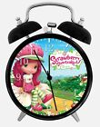 "Strawberry Shortcake Alarm Desk Clock 3.75"" Home or Office Decor W98 Nice Gift"