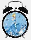 "Disney Cinderella Alarm Desk Clock 3.75"" Home or Office Decor W99 Nice For Gift"