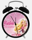 "Barbie Doll Alarm Desk Clock 3.75"" Home or Office Decor W106 Nice For Gift"
