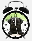 "Cute Black Pug Alarm Desk Clock 3.75"" Home or Office Decor W122 Nice For Gift"