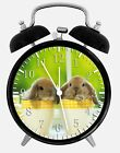 "Cute Bunny Rabbit Alarm Desk Clock 3.75"" Home or Office Decor W116 Nice For Gift"