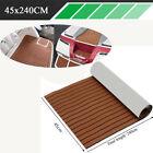 240x45cm Teak EVA Foam Boat Yacht Flooring Mat Decking Rug Self-adhesive Pad