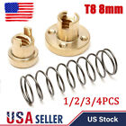 1/2/3pcs T8x8 2mm Anti Backlash Spring Loaded Nut for 3D printer and CNC NEW US