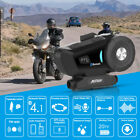 BT Motorcycle Helmet Bluetooth Headset Motorbike Intercom 2 Riders 500M FM Radio