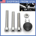 For Motorcycle Handlebar Clamp Base Mount With 1 inch Ball and M8 Screws Kit SB3