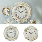 Vintage Shabby Rose Floral Wall Clock Victorian Antique Style Pendulum Clock