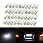 40PCS T10 168 921 158 2825 W5W 5SMD 5050 LED Cool White For License Light 12V