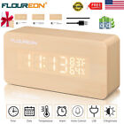 Digital Desk Alarm Clock Calendar Temperature Humidity Voice Control Time Clocks