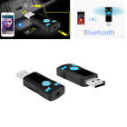 Car USB Bluetooth Adapter 3.5mm AUX Receiver For Stereo Audio Hands-free Speaker