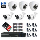8CH 2TB 4MP DVR AHD CCTV HD 6x1440P Home Surveillance Security Camera System IR