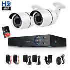 4CH 4.0MP HDMI DVR Outdoor AHD 1440P Bullet CCTV Camera Security System Kit 2TB
