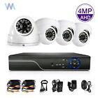 4Ch 5IN1 1440P CCTV AHD DVR HDMI Video 4X Security Camera System Night Vision