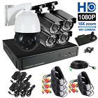 18X PTZ 8CH AHD 1080P DVR 4x720P IR Outdoor CCTV Security Camera System Kit