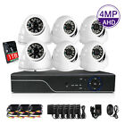 8CH 1440P DVR Outdoor Night Vision CCTV Security Camera System Waterproof IR 1TB