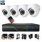 CCTV 4CH 1440P 4.0MP DVR Record IR-CUT Home Security Camera System 1TB 4 Camera