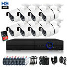 8CH 4MP AHD DVR 1440P Home HD IR CCTV Security Camera System Outdoor Night 1TB