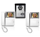 "AMOCAM 4.3"" Clear LCD 2- Monitor Wired Video Intercom Doorbell System Video Door"