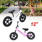 "Unisex Kids 12"" Balance Bike Classic No-Pedal Learn To Ride Pre Bike Adjust Seat"