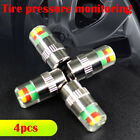 Auto Tire Pressure Monitor Valve Stems Caps Sensor Indicator 3 Color Universal