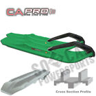 C&A PRO XCS Snowmobile Skis GREEN Arctic Cat XF 8000 High Country SnoPro (2014)