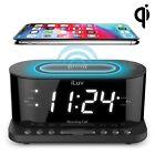 iLuv MORCAL5QULBK Morning Call 5 Clock Radio with Qi Charging Black