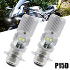 2PCS P15D H6M LED Headlight Bulb For Kawasaki Prairie 300 360 400 99 00 01 02 08