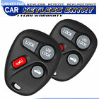 2 Keyless Entry Remote Key Fob Clicker Control 4 Button For 97-99 Buick Lesabre
