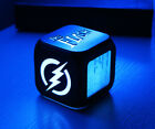 Superhero The Flash Alarm Clock Color Changing LED Digital Timepieces Gift
