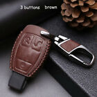 Leather Key Case For Mercedes-Benz Car Remote Key Holder Shell Fob Cover 3button