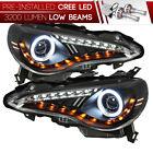 [CREE LED Bulb Installed] 12-16 FR-S Black LED DRL CCFL Halo Projector Headlight
