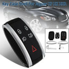 For Jaguar XF XK XKR Remote Key Fob Case Keyless Shell +Uncut Blade 5 Buttons