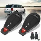 Pair 3BTN Remote Key Entry Shell Case For Dodge Grand Caravan Journey 2008-2014