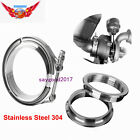 3Inch SS304 Stainless Steel V-Band Clamp M/F 3 v band Turbo Exhaust Downpipe