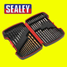 Sealey AK4752 52pc Drill & Bit Accessory Set Garage Tools HSS/Masonry
