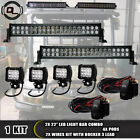 """FIT Kubota RTV 900 Diesel UTV TRACTOR 4X4WD 22""""INCH LED LIGHT BAR COMBO +4"""" PODS"""