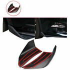 2x Matte Black Front Bumper Lip Front Chin Spoiler Winglets For Mustang  2015-17