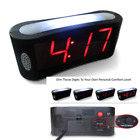 Travelwey Home LED Digital Alarm Clock - Outlet Powered, Simple Operation, Black