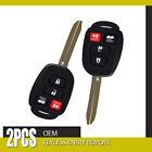 2x Fit 2015 2016 Toyota Camry keys remote keyless fobs H Chip HYQ12BDM New