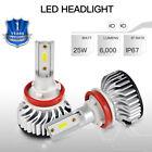 2pcs 50W For Arctic Cat F5 LXR EFI 2007-2009 H11 H8 H9 6500K LED Headlight Bulbs