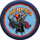 """Personalized Super Heros Montage Wall Clock 10.75"""" Children Gift"""
